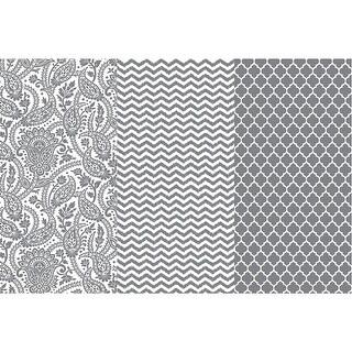 "Decoupage Paper Metallic 12""X16"" 3/Pkg-Silver Trends"