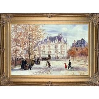 Jean Francois Raffaelli 'The Fletcher Mansion, New York City' Hand Painted Oil Reproduction