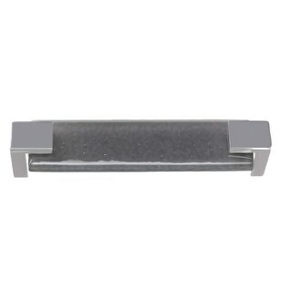 Sietto P-1202 Affinity 5-5/8 Inch Center to Center Handle Cabinet Pull with Slate Gray Glass