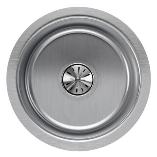 "Elkay ELUH12FB The Mystic 14-3/8"" Single Basin 18-Gauge Stainless Steel Kitchen Sink for Undermount Installations with"