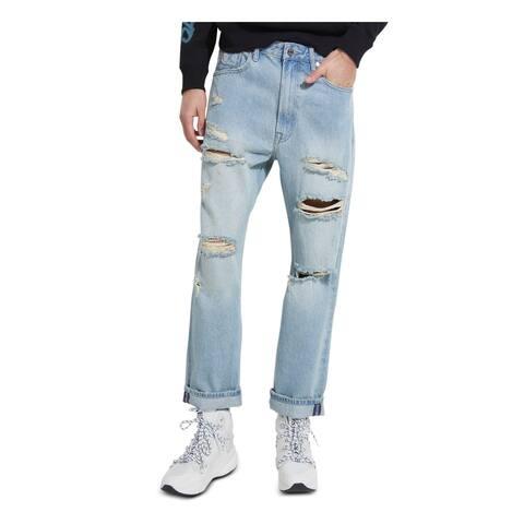 GUESS Mens Blue Jeans 34