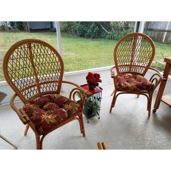 shop blazing needles 19 inch u shape chair rocker outdoor cushions