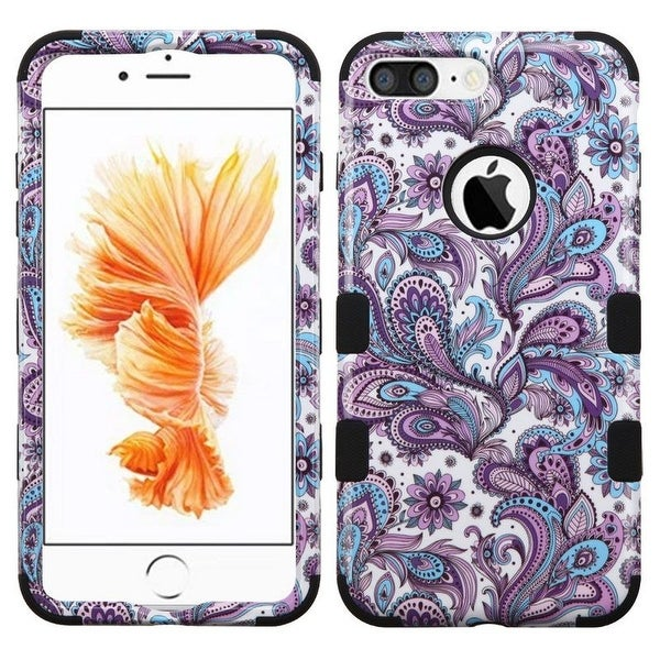 Insten European Flowers Tuff Hard PC/ Silicone Dual Layer Hybrid Case Cover For Apple iPhone 7 Plus
