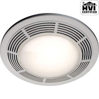 NuTone 8663RP 100 CFM 3.5 Sone Ceiling Mounted HVI Certified Bath Fan with Light