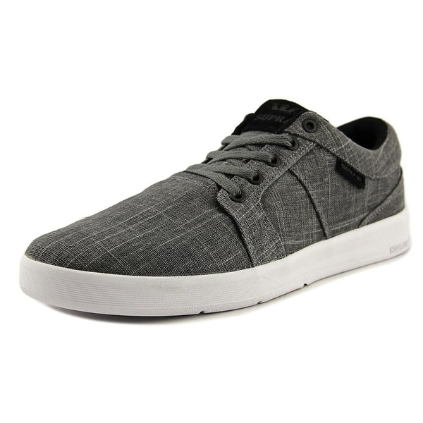 Supra Ineto Men Round Toe Canvas Gray Skate Shoe