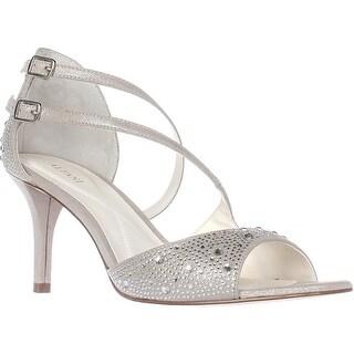A35 Cremena Sparkle Strappy Dress Sandals, Silver