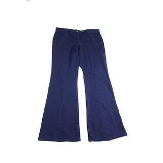 Style & Co. Indigo Double-Button Flared Pants 14