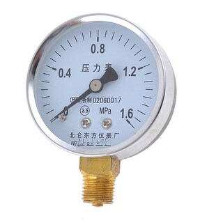 Air Compressor 14mm Threaded Pneumatic 0-1.6MPa Pressure Gauge