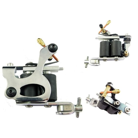 Afterlife Custom Irons Tattoo Machine Liner / Shader 8-Wrap Coils - Silver