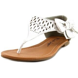 Sarah Jayne Sparkle Open Toe Canvas Thong Sandal