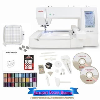 "Janome Memory Craft 400E Embroidery Machine with Bonus Bundle - 1"" x 1"" x 1"""