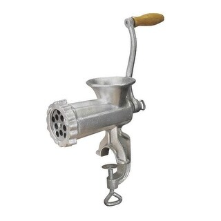 Weston 36-1001-W #10 Manual Meat Grinder, Silver