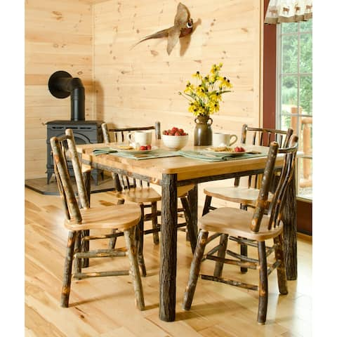 """Hickory Log Solid Top Table - 42"""" x 42"""""""