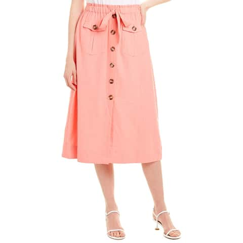 Nanette By Nanette Lepore Linen-Blend Skirt