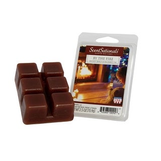 Scentsationals by the Fire 2.5 oz Fragrant Wax Melts, 6 Scented Wax Cubes - 3 Pack