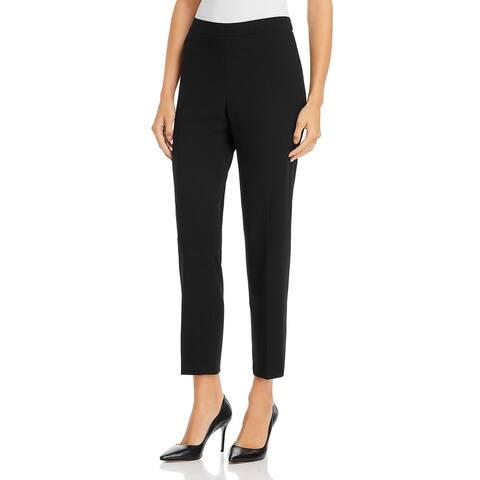 Calvin Klein Womens Straight Leg Pants Mid-Rise Pull On