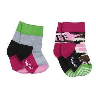 Happy Socks Baby Girls 2PK Casual Socks - 12-24 mo