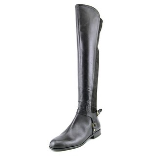 Franco Sarto Mast Round Toe Leather Over the Knee Boot