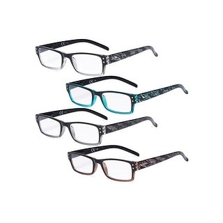 Link to 4-Pack Fashion Readers Great Value Quality Reading Glasses Women Similar Items in Eyeglasses