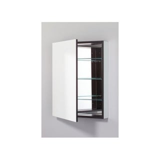 """Robern PLM2430RE PL 23"""" x 30"""" Frameless Medicine Cabinet Right Hinged with Flat Mirror and Electrical Outlet"""