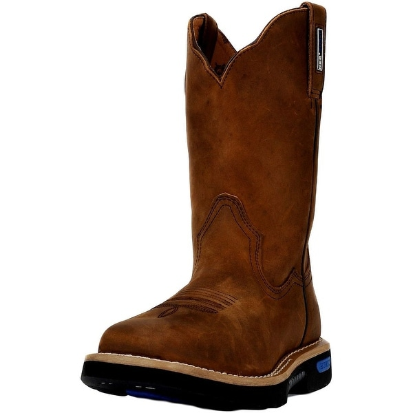 """Cinch Work Boots Mens Leather 11"""" Shaft WRX Toe Brown"""