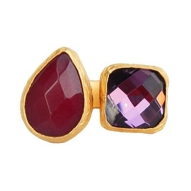 Helene Jewelry Double Stone Floating Cocktail Ring