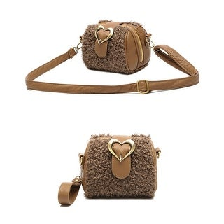 JAVOedge Cute Furry Textured Mini Bag for Point and Shoot Camera / Camera Carry Bag with Zipper Closure