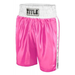 Title Professional Boxing Trunks - Small - Pink/White