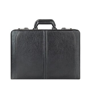 Solo Classic Leather Attache - Black Classic Leather Attache