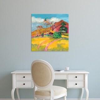 Easy Art Prints Jennifer Goldberger's 'Ode to Gauguin I' Premium Canvas Art