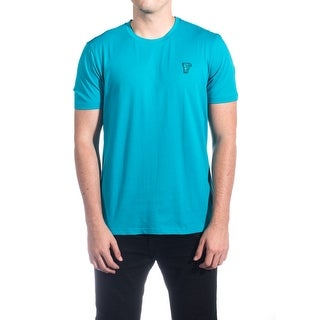 Versace Collection Men's Cotton Medusa Logo Crew Neck T-Shirt Teal
