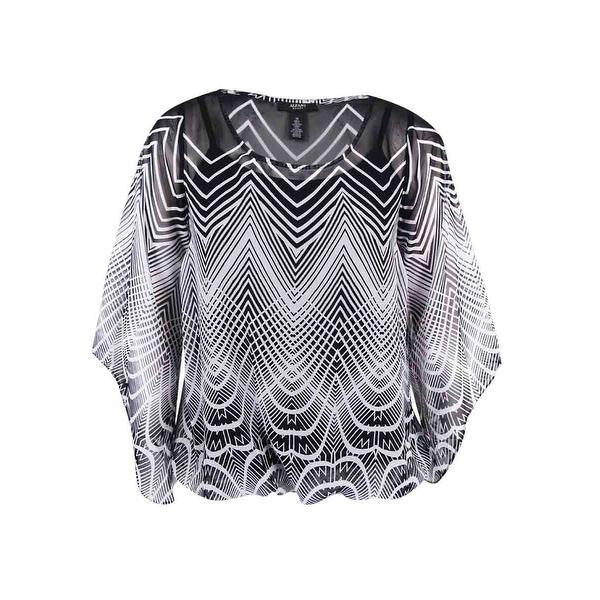 6d6db3de7c5 Shop Alfani Women's Plus Size Deco-Print Angel-Sleeve Blouse - Free  Shipping On Orders Over $45 - Overstock - 17019162