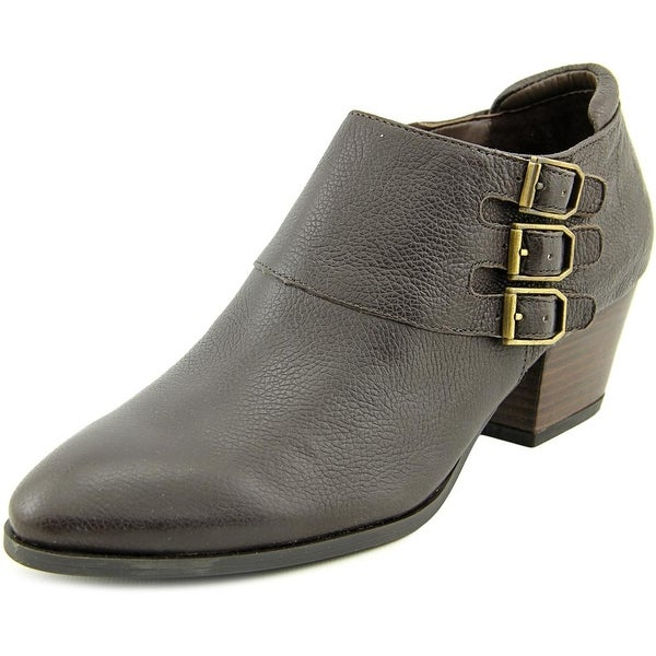 Franco Sarto Genna Round Toe Leather Bootie
