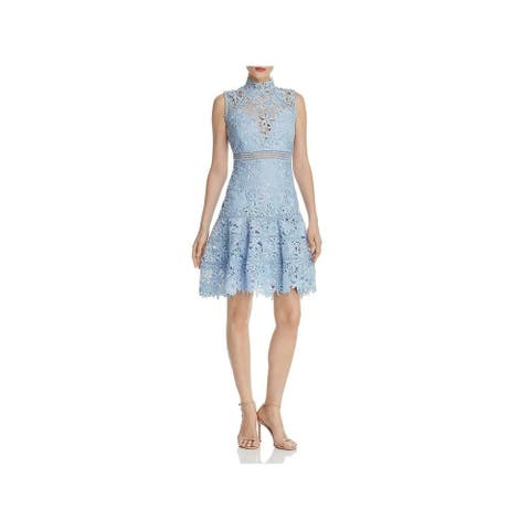 BARDOT Light Blue Above The Knee Dress XS