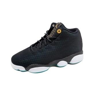 Nike Grade-School Air Jordan Horizon Low GG Black/Metallic Gold-Rio Teal 846365-019 Size 4Y