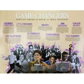 Rock N Roll Poster Music Legends African American Pioneers (18x24)