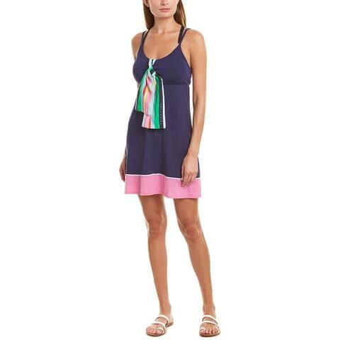 Trina Turk Deco Stripe Silk-Blend Cover-Up