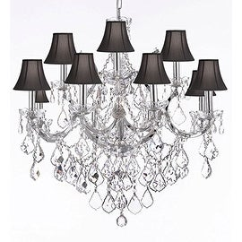 Spectra Trimmed Crystal Maria Theresa Crystal Chandelier Lighting H30 x W28