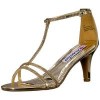 2 Lips Too Womens Too Eventful Open Toe T-Strap Classic Pumps