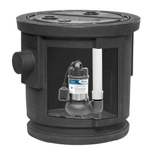 ProFlo PF93082 1/2 HP Simplex Sewage Pump Kit with Steel Motor Housing - Pump Includes Tethered Float Switch