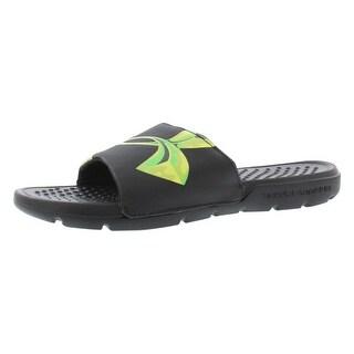 Under Armour Strike Sl Chrome Sandals Gradeschool Boy's Shoes - 4 big kid m