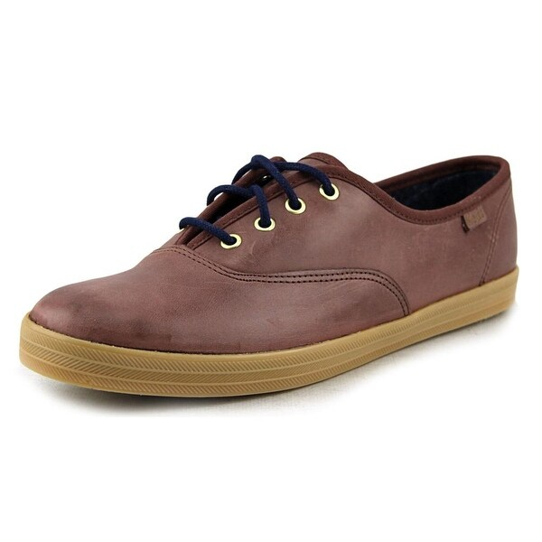 brand new 8d8e7 e83bb Keds CH Burnished Women Round Toe Leather Brown Sneakers. Click to Zoom
