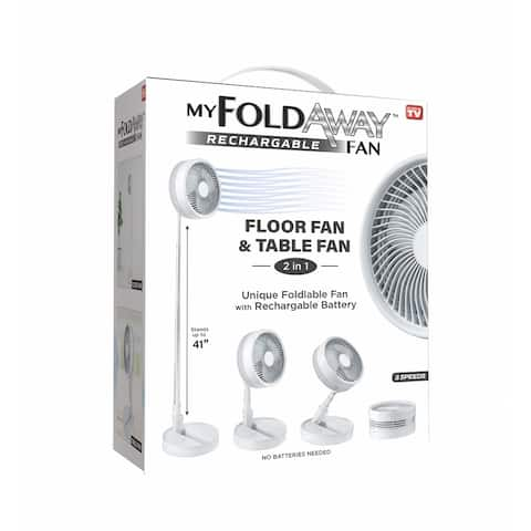 MyFoldaway Fan-Rechargeable Foldable Fan-Wireless and Portable