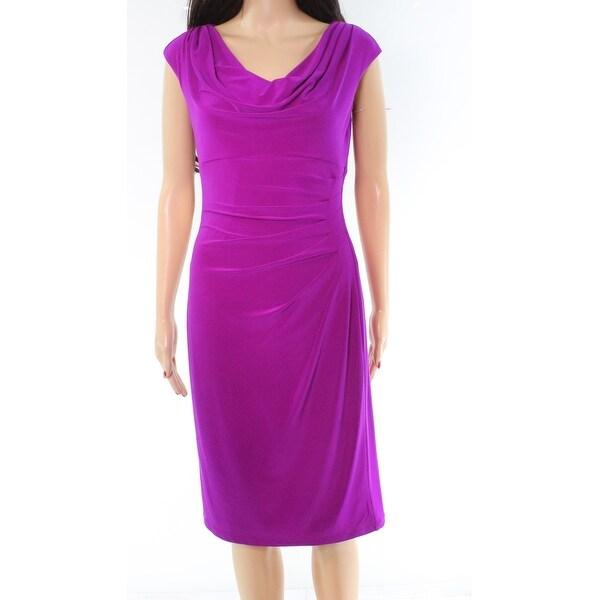 Cowl Neck Sheath Dresses: Shop Lauren By Ralph Lauren Purple Cowl Neck Women's 4