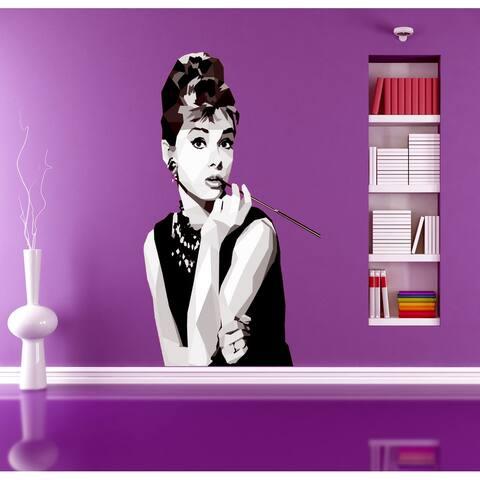 Audrey Hepburn Polygonal Wall decal, Fashion Polygon Modern wall art, sticker