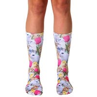 Easter Bunnies Photo Print Crew Socks - White