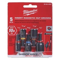Milwaukee 5Pc Insrt Mag Nut Dr Set
