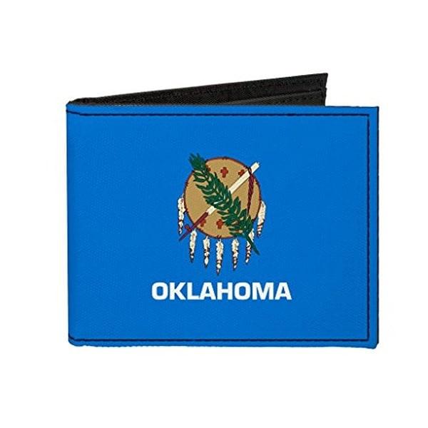 Buckle-Down Canvas Bi-fold Wallet - Oklahoma Flag Accessory