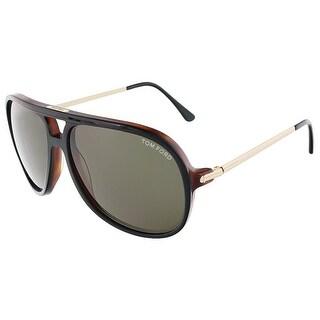 Tom Ford FT0333/S 03B DAMIAN Black/Havana Aviator sunglasses