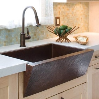 "Native Trails CPK90 Zuma 33"" Single Basin 16 Gauge Hammered Copper Kitchen Sink"
